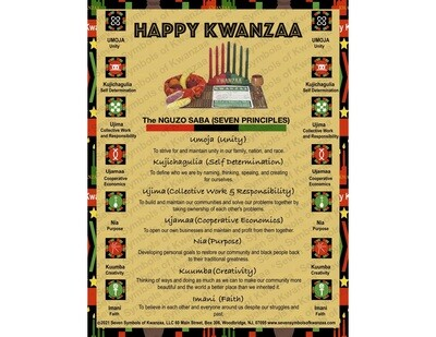 Happy Kwanzaa Poster 18 x 20- Instant Download