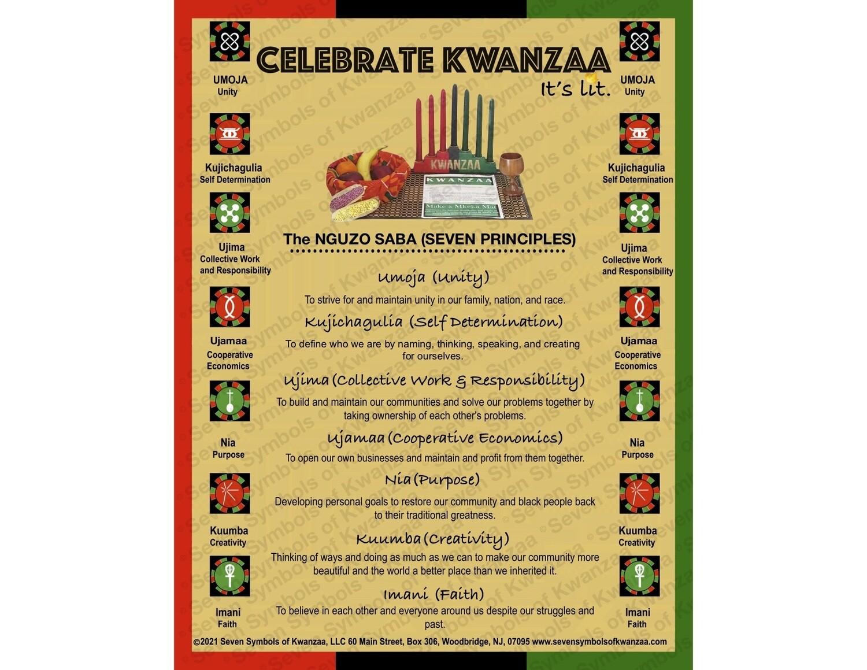 Celebrate Kwanzaa- It's Lit Poster 18 x 20