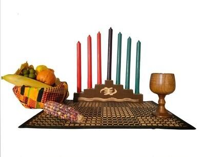 Kwanzaa Celebration Set- Gye Nyame Kwanzaa Kinara Set