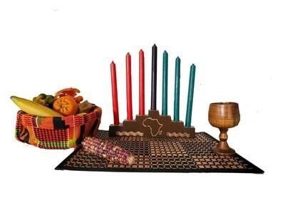 Kwanzaa Celebration Set- Africa Kwanzaa Kinara Set