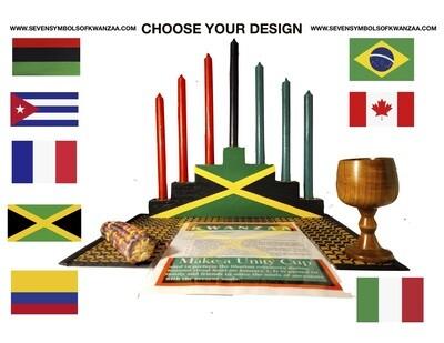Kwanzaa Kinara Celebration -African Diaspora Limited Edition CHOOSE YOUR DESIGN