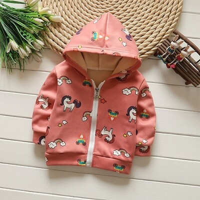 Winter Jacket Ultra Soft Girls Unicorn