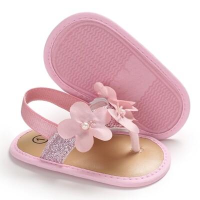 Shoes Glitter Flip Flops Pink