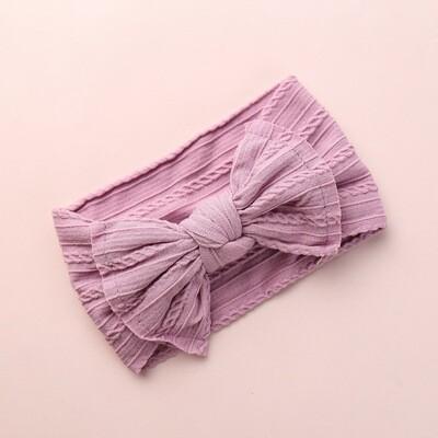 Headband Bow Purple