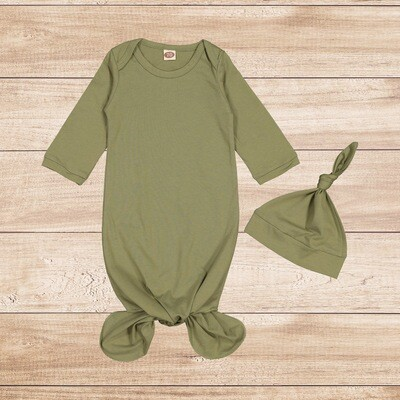 Knotted Onesie with Hoodie Green