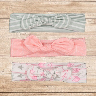Headband Set 3PC  Pink Arrow