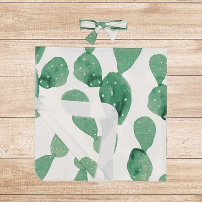 Swaddle Set Blanket Cactus with Headband