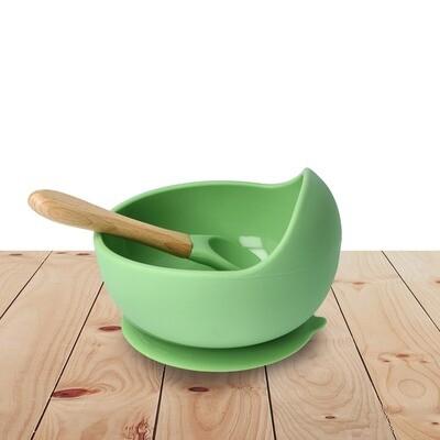Bowl Set Silicone Green