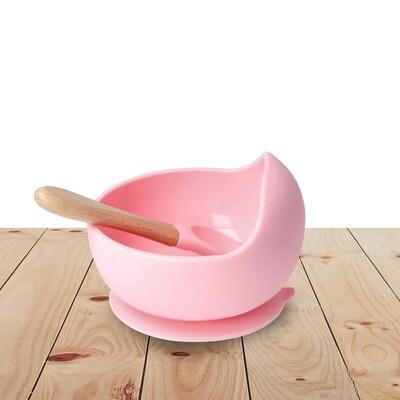 Bowl Set Silicone Pink