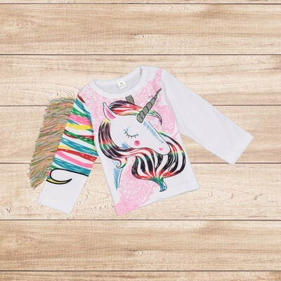 Girls Unicorn Rainbow T-shirt