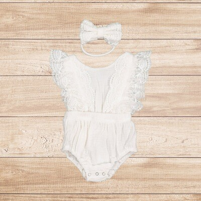 Romper White Lace