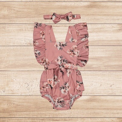 Romper Pink with Roses
