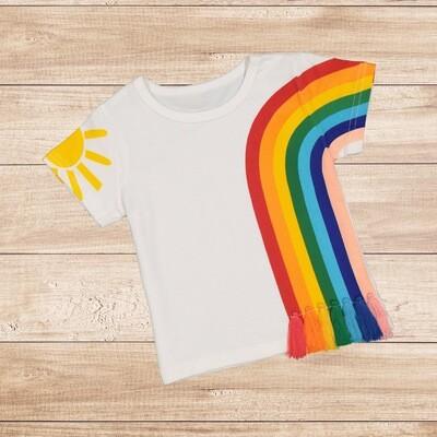 Girls Rainbow  T-Shirt