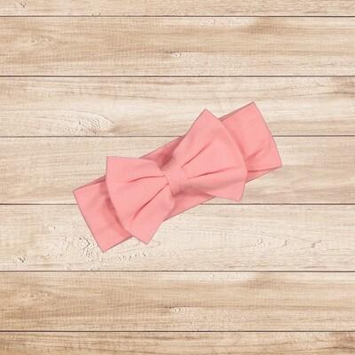 Headband Bow Coral