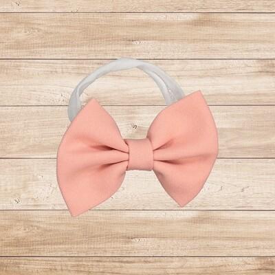 Headband Bowtie Beige Pink