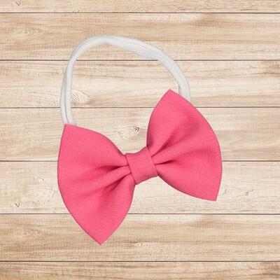 Headband Bowtie Bright Pink