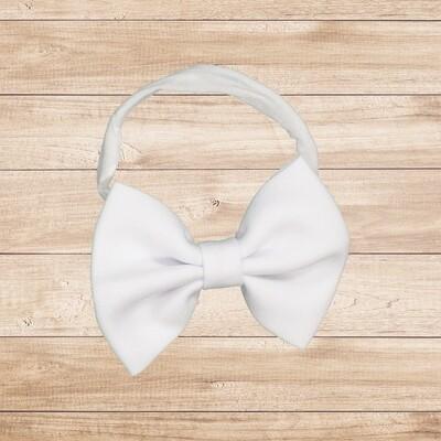 Headband Bowtie White