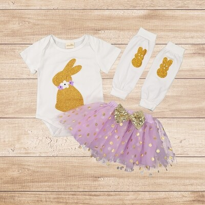 Girls 3PC Bunny Outfit