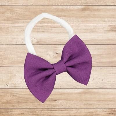 Headband Bowtie Purple