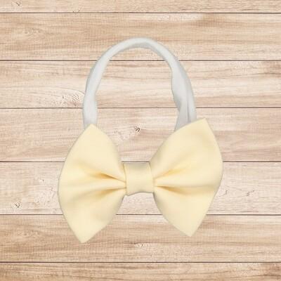 Headband Bowtie Baby Yellow