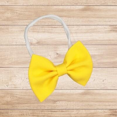 Headband Bowtie Bright Yellow