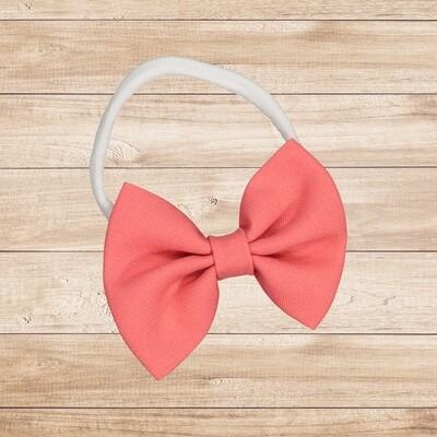 Headband Bowtie Coral