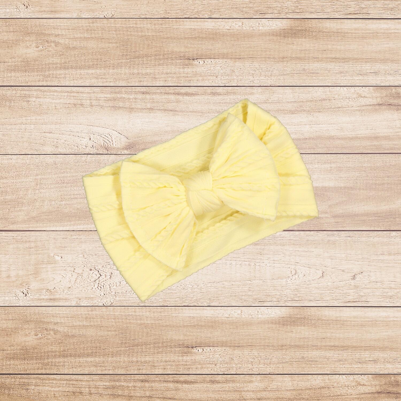 Headband Bow Yellow
