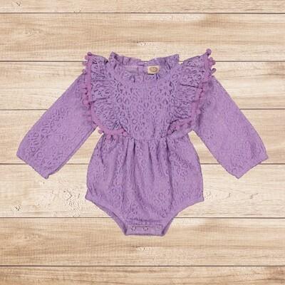 Romper Purple Soft Lace