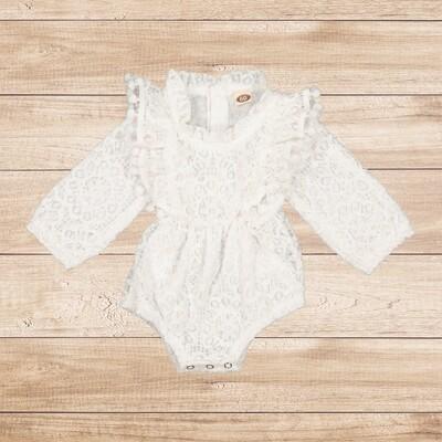 Romper White Soft Lace