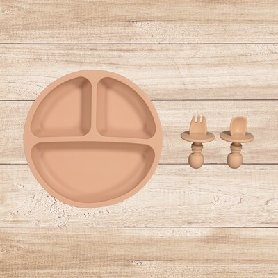 Plate and Utensil Set Pink