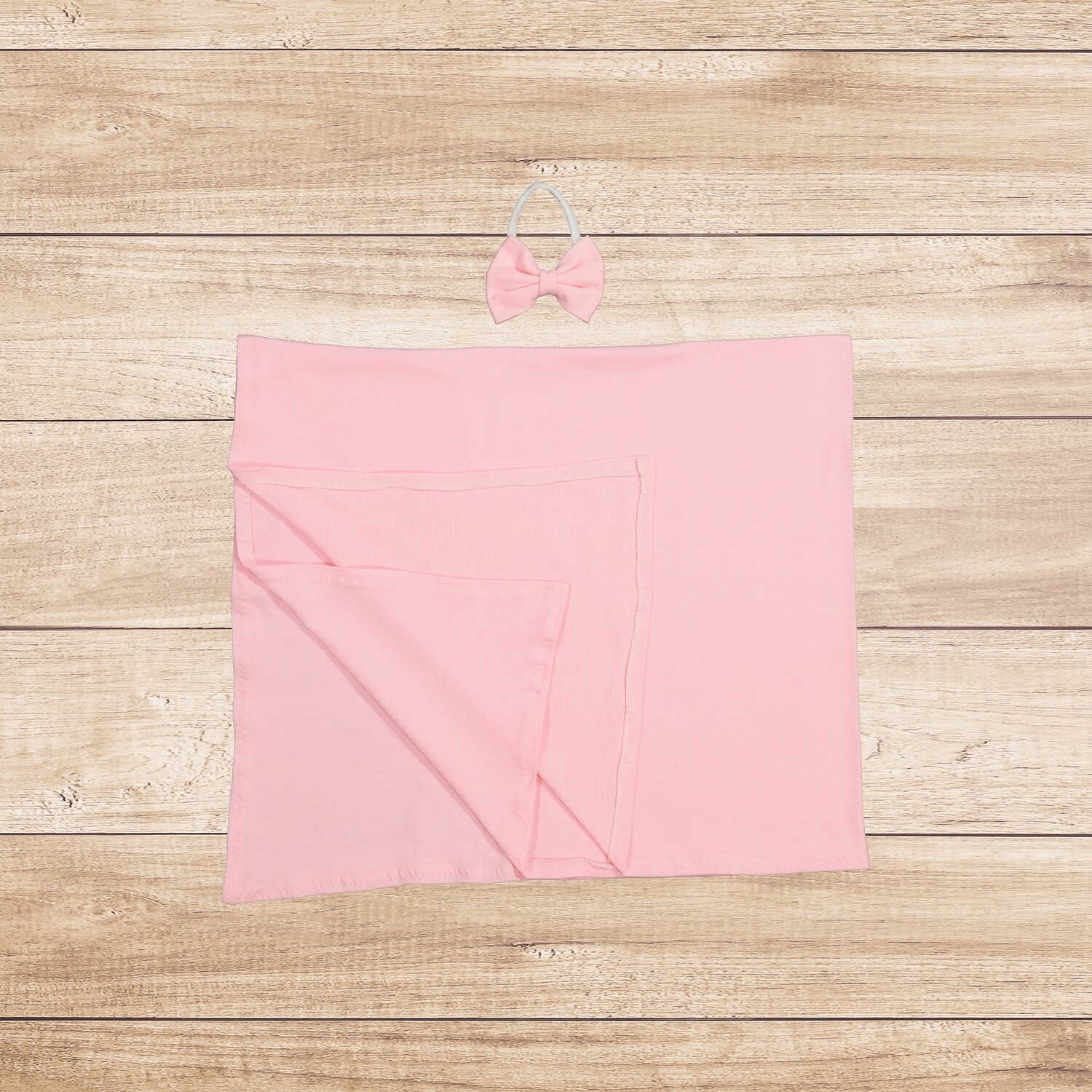 Swaddle with Bow Set Light Pink