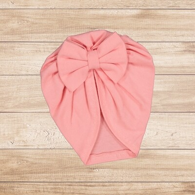 Turban with Bow Coral