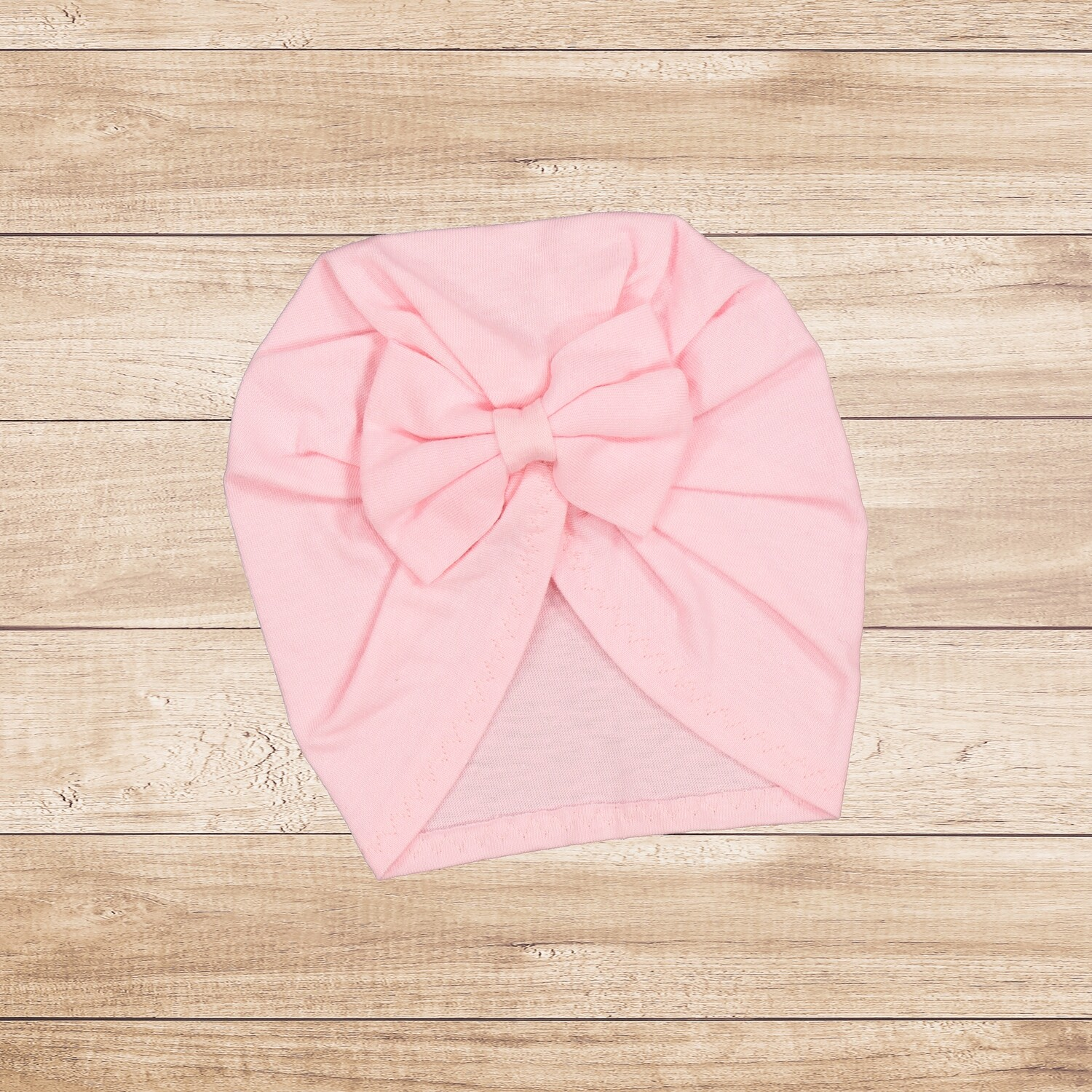 Turban with Bow Light Pink