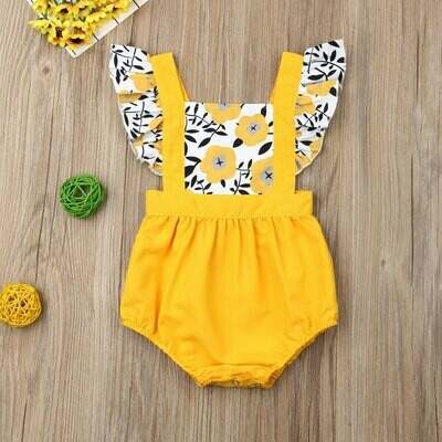 Yellow Romper with Yellow flowers