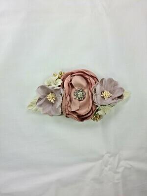 Headband floral set pink