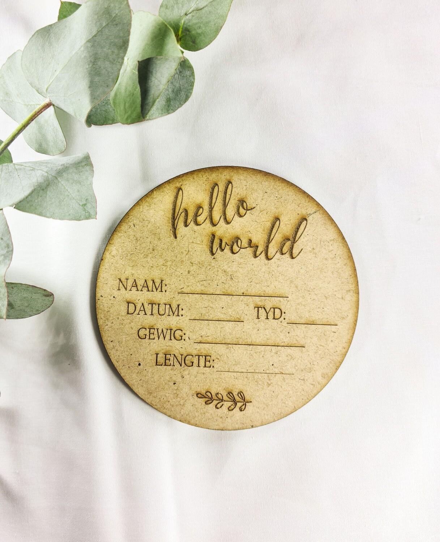 Hello World Disc Afrikaans