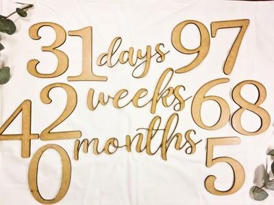 Cut out milestones 13pc