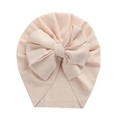 Turban with bow Off white