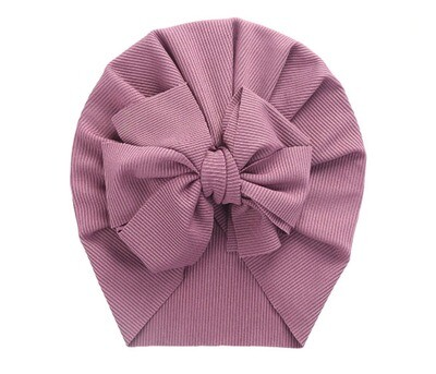 Turban with bow Purple