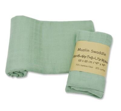 Muslin Blanket Green 120x120cm