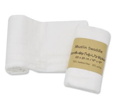 Muslin Blanket White120x120cm