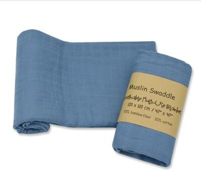 Muslin Blanket Blue 120x120cm