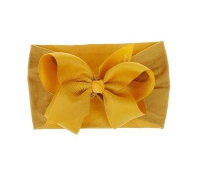 Headband Bow mustard