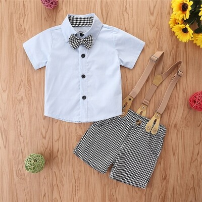 Boys 2PC Set Bow and strap