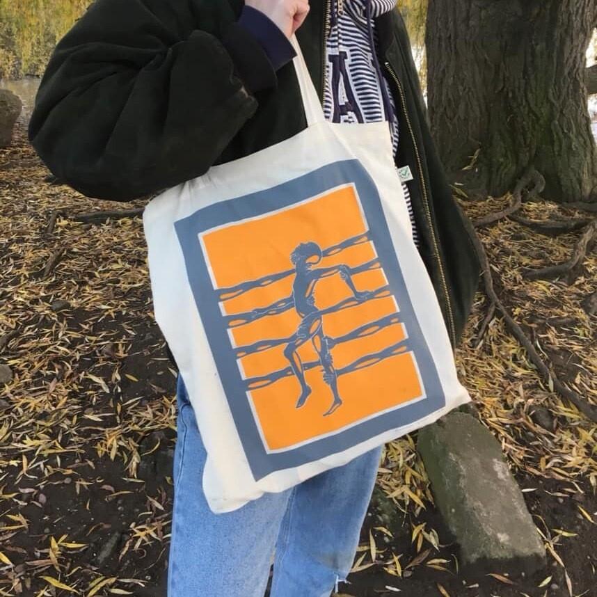 """Buoys I"" Screen Printed Tote Bag"