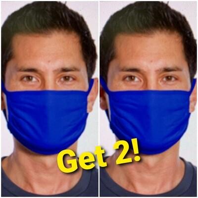 Masks, 2 royal blue