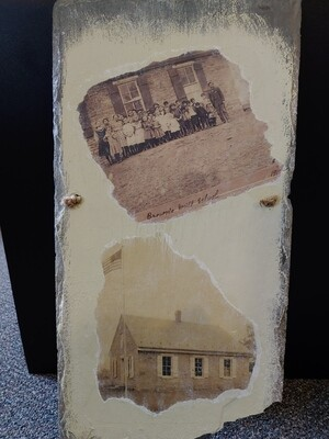 Slate Tiles Brown's Mill School with Pictures