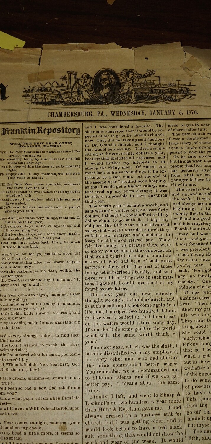 Franklin Repository 1876