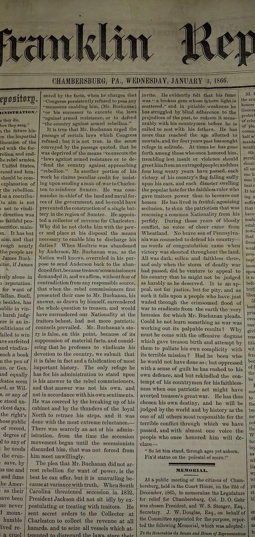 Franklin Repository 1866