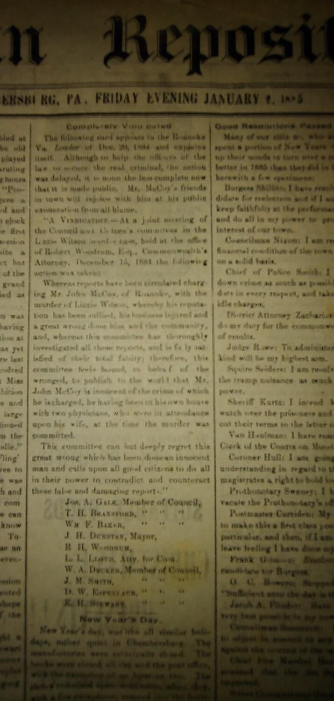 Franklin Repository 1885